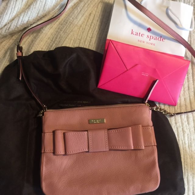 Authentic pink Kate spade cross body
