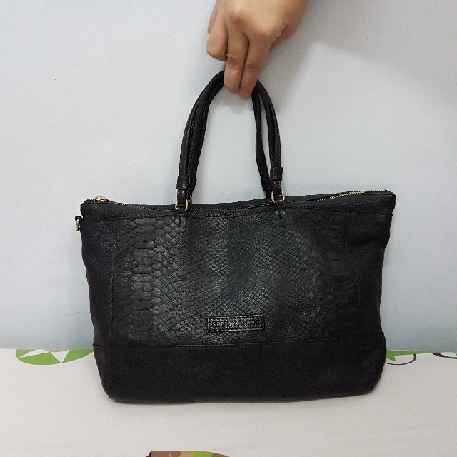 Authentic  See By Chloe Genuine Leather Tote Bag Snakeskin Design