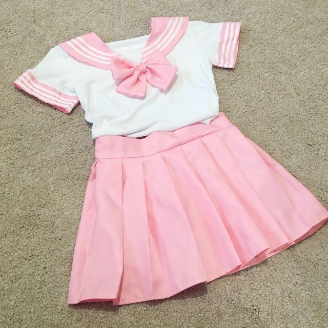baby pink sailor uniform set 💕