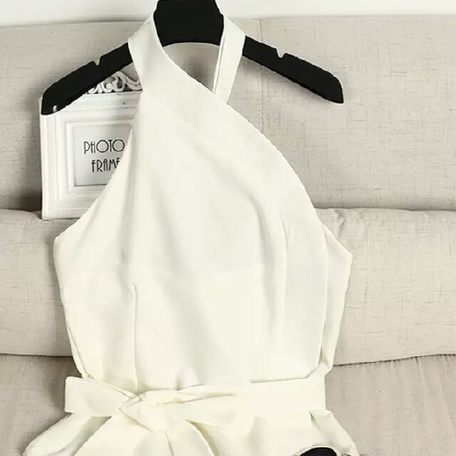 Bardot white open back top