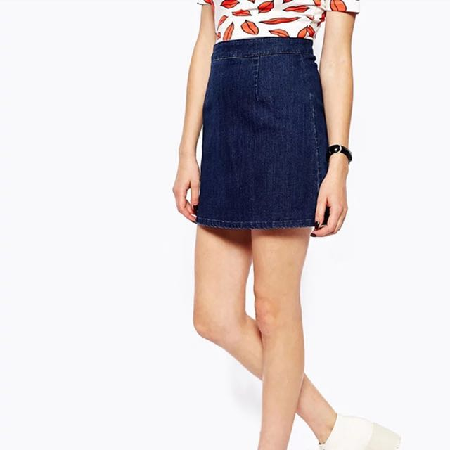 063270e7db Blue Denim Skirt With Showing Back Zip, Women's Fashion, Clothes ...