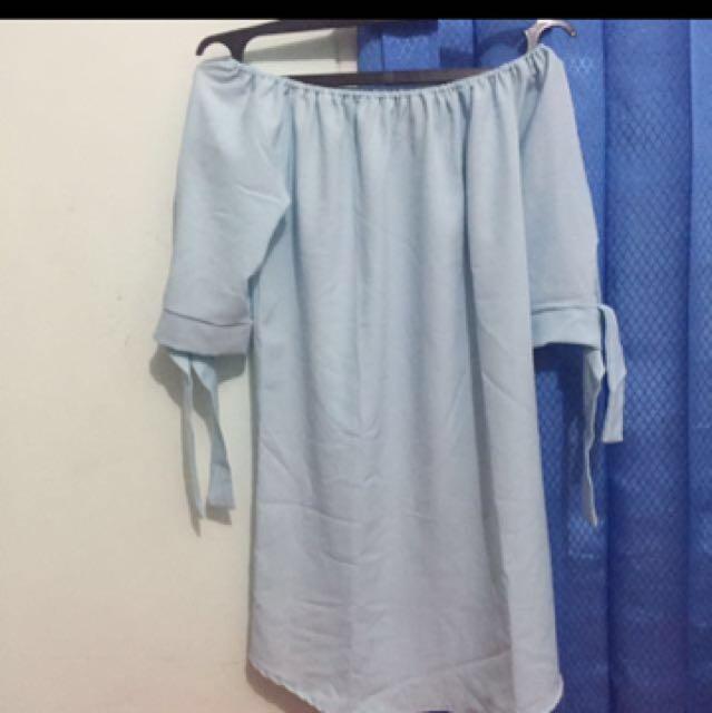 Blue dress sabrina