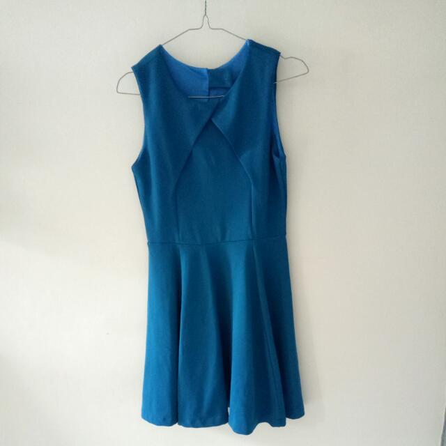 Blue Party Dress Elegant