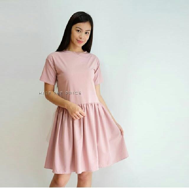 Brand New! HTP Dusty Rose Skater Dress (sf included)