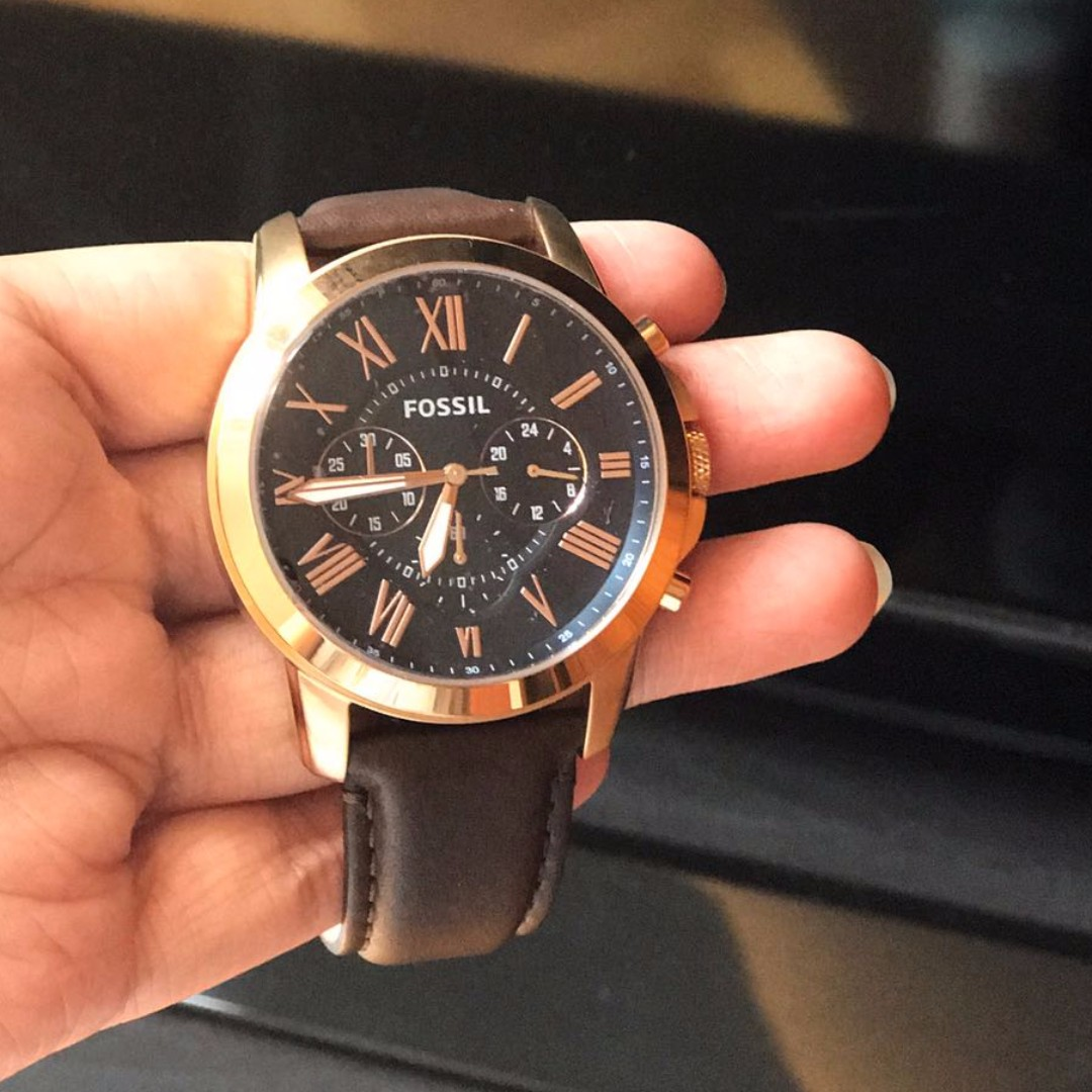 Brand New Men s Fossil watch with tag (100 ) Fossil Grant Chronograph Brown  Leather watch   FS5068 1 yr local seller warranty. Received as a gift 97b9d1d6a6b3