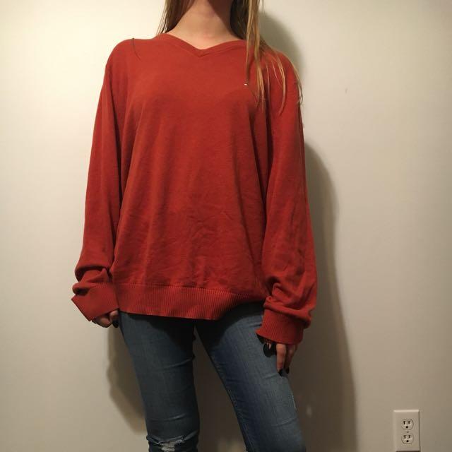 Brunt orange Tommy knit
