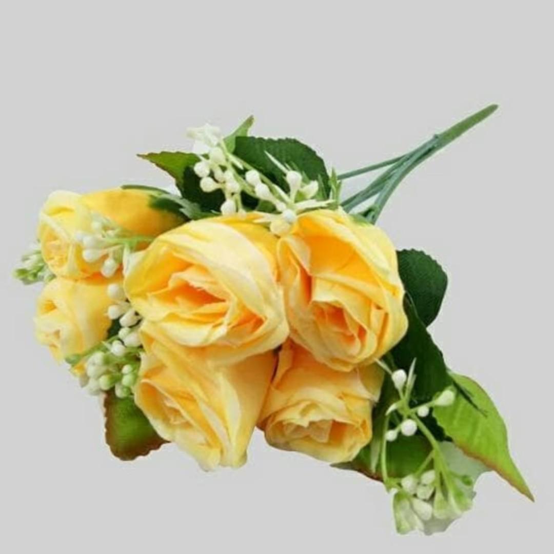 Buket Bunga Plastik Artificial Palsu Bunga Mawar Tangkai Perabotan Rumah Di Carousell