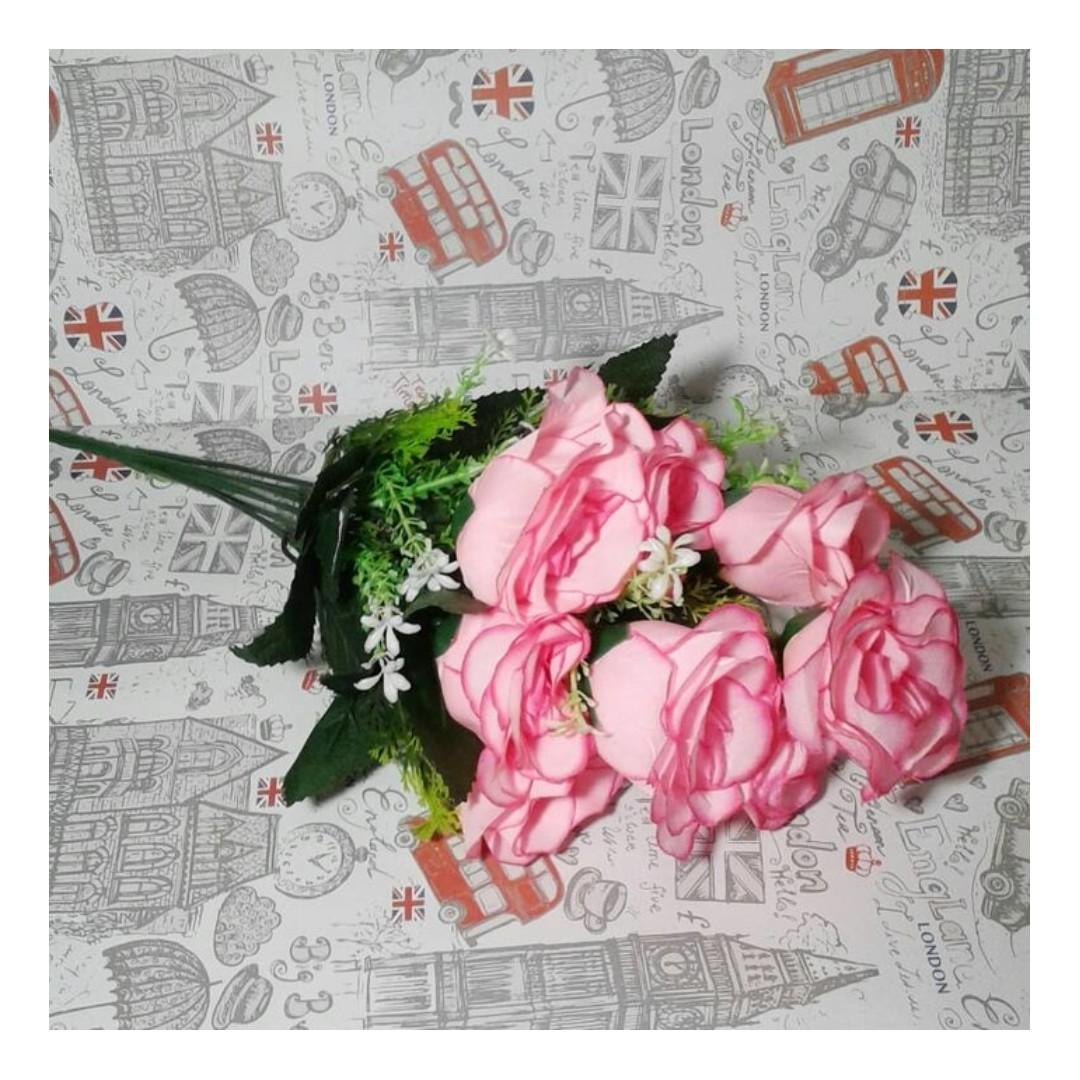 bunga plastik mawar/bunga artificial mawar shabby chic
