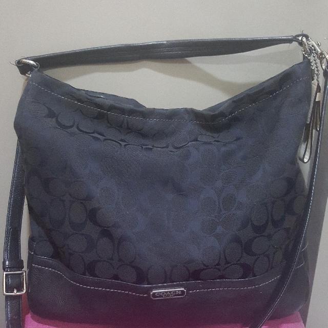e2db0b690234 Coach Park Signature Hobo Shoulder Bag - Black F23279