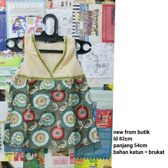 Cute Batik Top Import