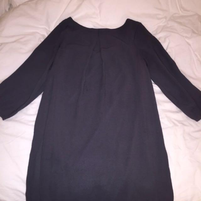 Dark grey chiffon H&M dress, size small