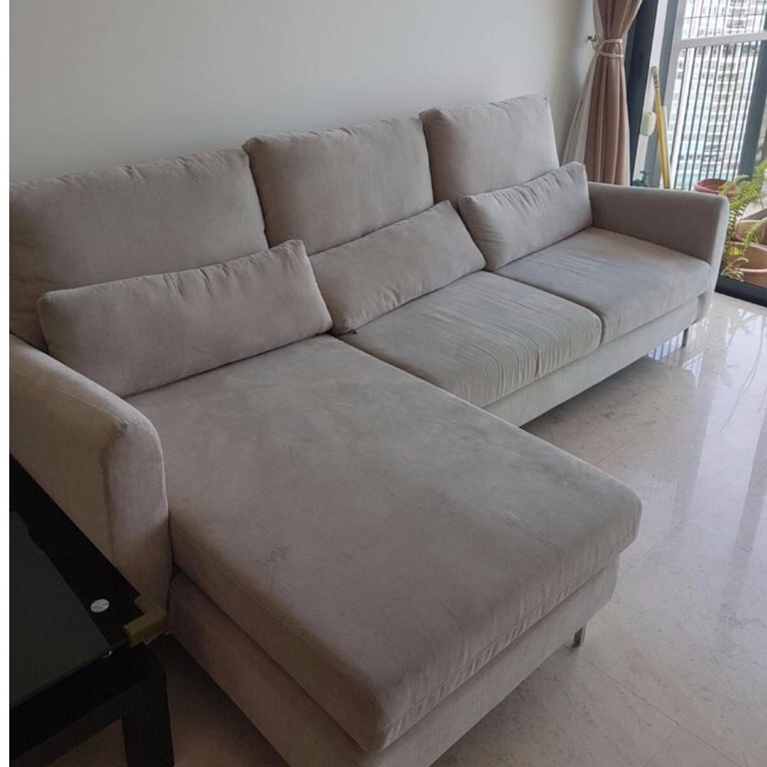 Designer L Fabric Sofa Furniture Sofas On Carousell