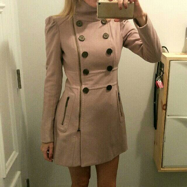 Dusty pink Bebe wool coat