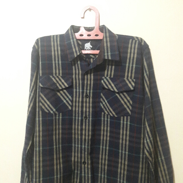 Flannel Brand Lokal Navy Brown Size L