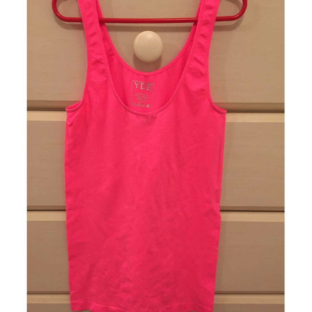 Florescent pink tank top (size small) from JEAN MACHINE