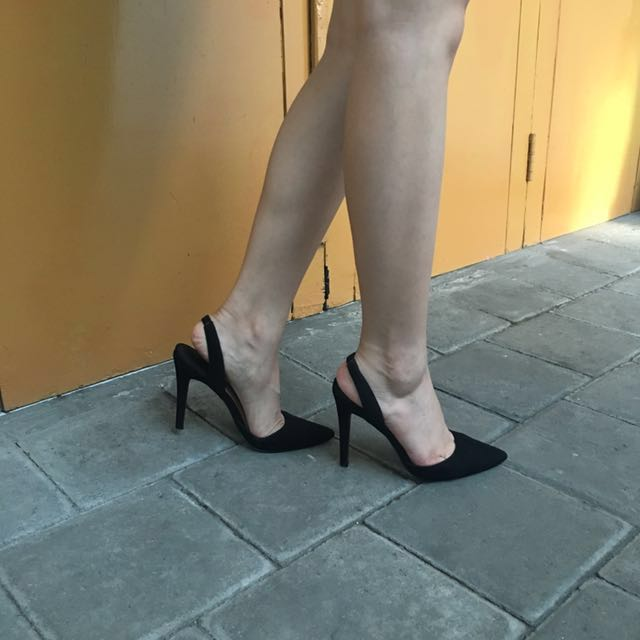 Forever 21 - black suede sandals