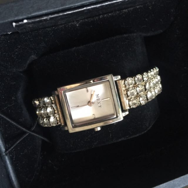 Full Bracelet Crystal-Studded NEXT womens Watch