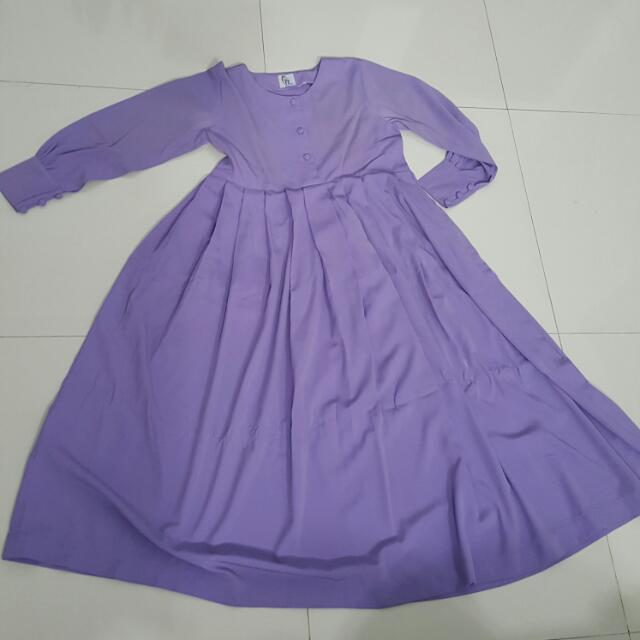 Gamis Ungu Muda 001 Women S Fashion Muslim Fashion On Carousell