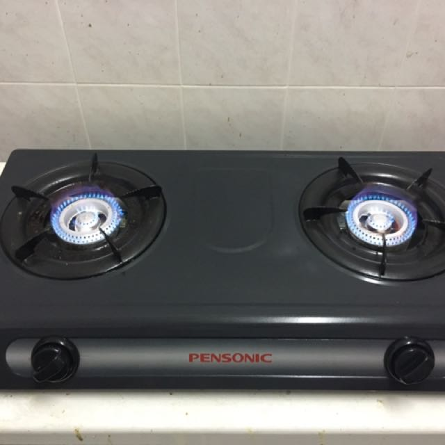 Gas Stove Double Pensonic Dapur Dua Kepala Kitchen Liances On Carou