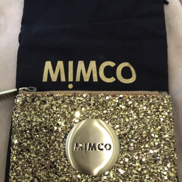 Gold mimco pouch