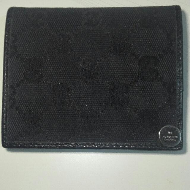 Gucci 信用卡夾 黑色經典款 正品