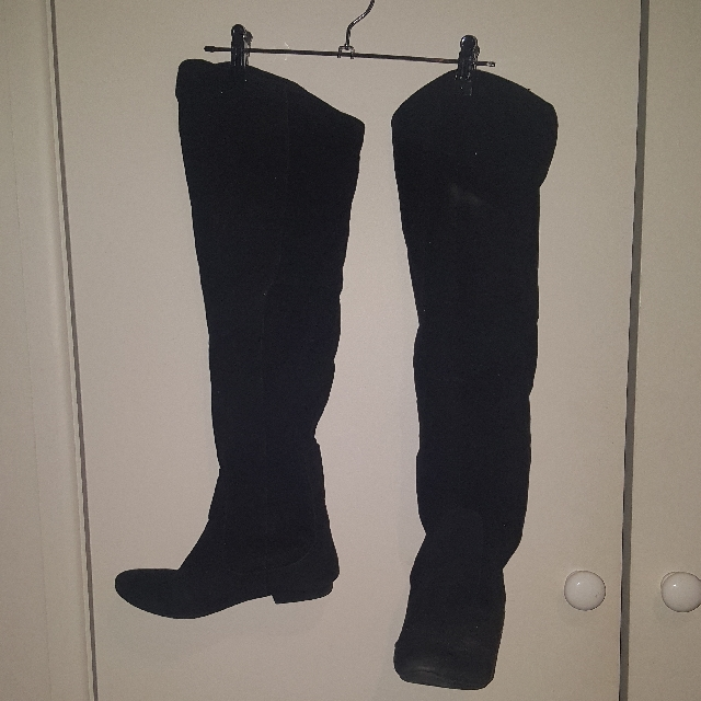 High Rise Black Boots