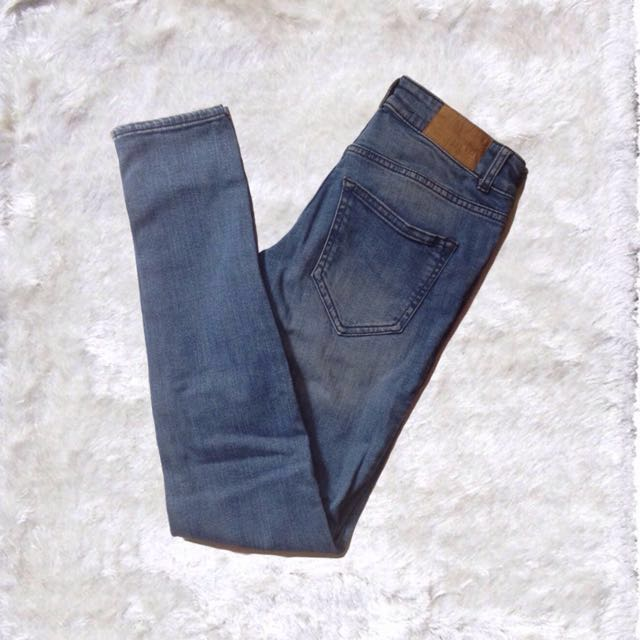 H&M Skinny Ripped Denim Jeans