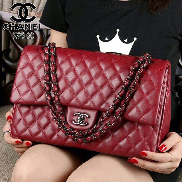 H*N*L Yuni Shara Premium Leather Hardware Black like Ori