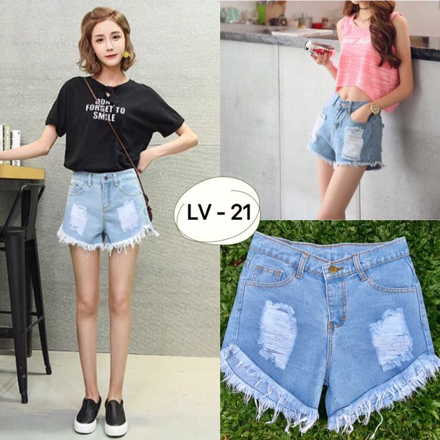 Hotpants Ripped Jeans
