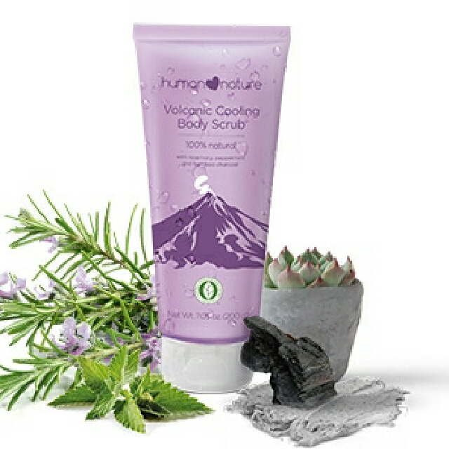 Human Heart Nature Volcanic Cooling Body Scrub