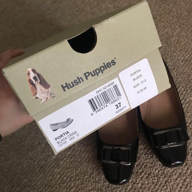 Hush puppies black shoes (portia) size37