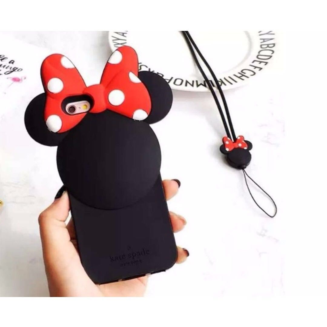 pretty nice 2c5f8 0dd00 Kate Spade Minnie Mouse Rubber Case for Apple iPhone