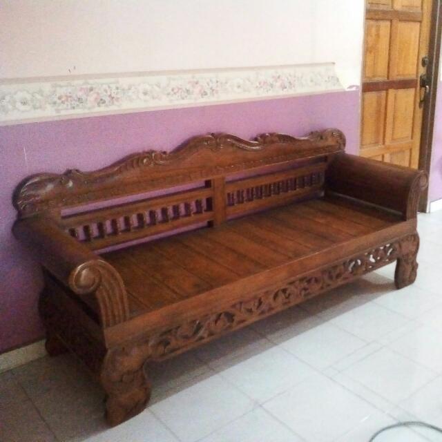 Kayu Jati Bench 3 Seater Home Furniture Furniture On Carousell