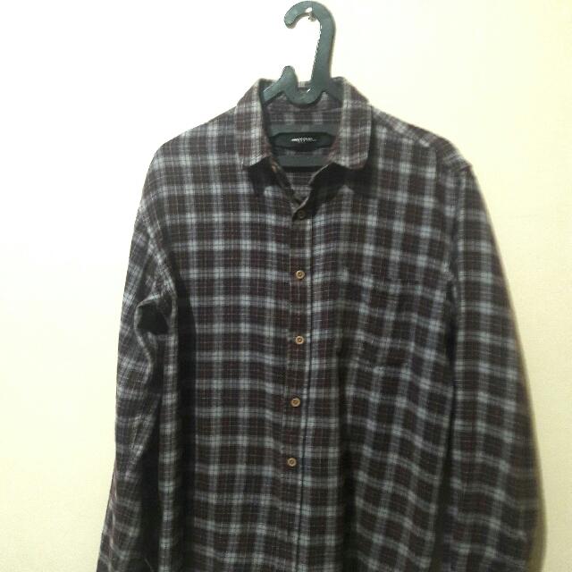 Kemeja Flannel Lokal Size L