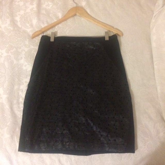 Laura Ashley black skirt