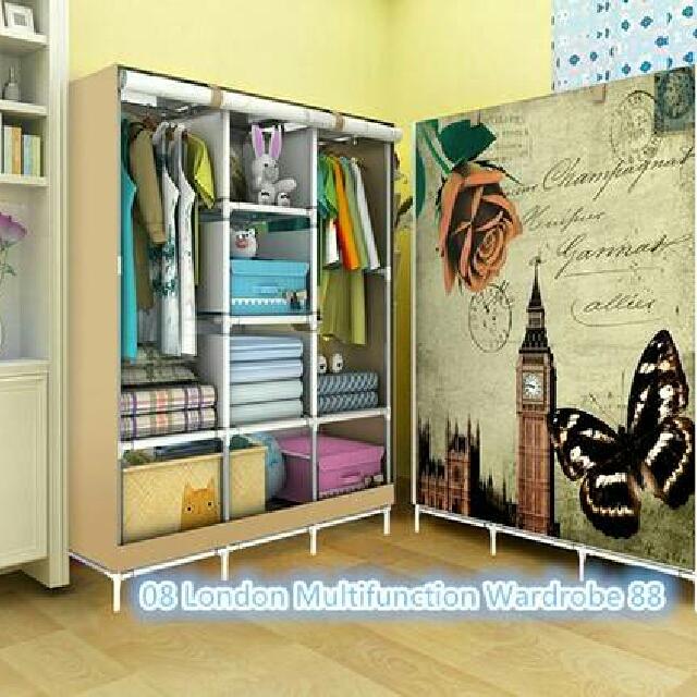 lemari pakaian korea 4 sekat