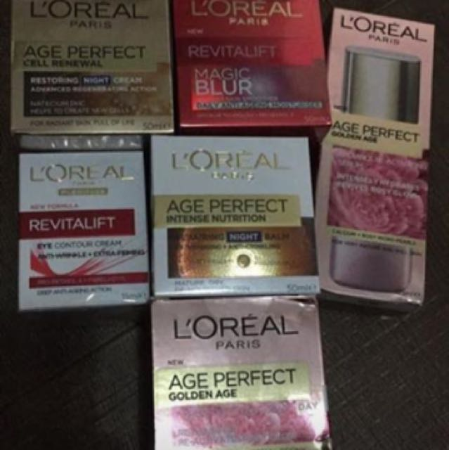L'Oréal Skin care Cream and serum (assorted)
