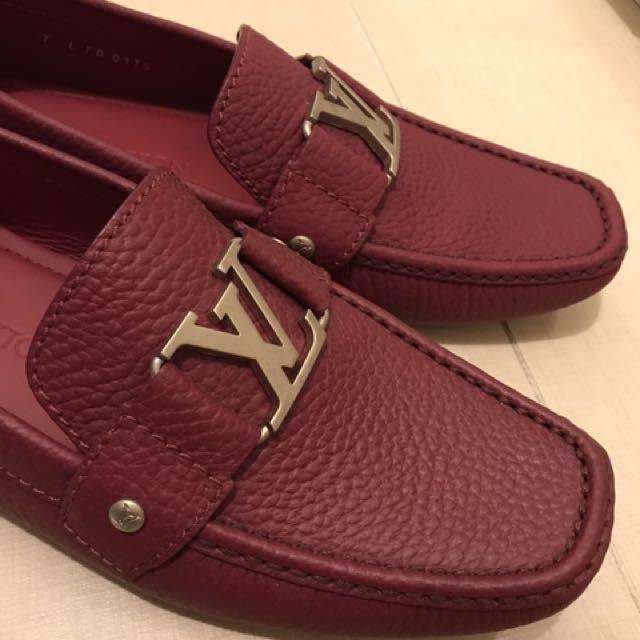 Lv暗紅色鞋