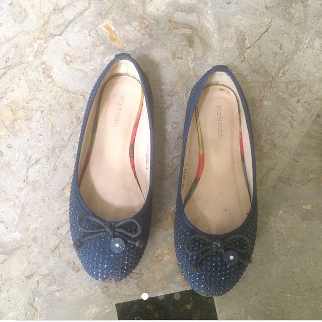 Marie claire navy blue flatshoes