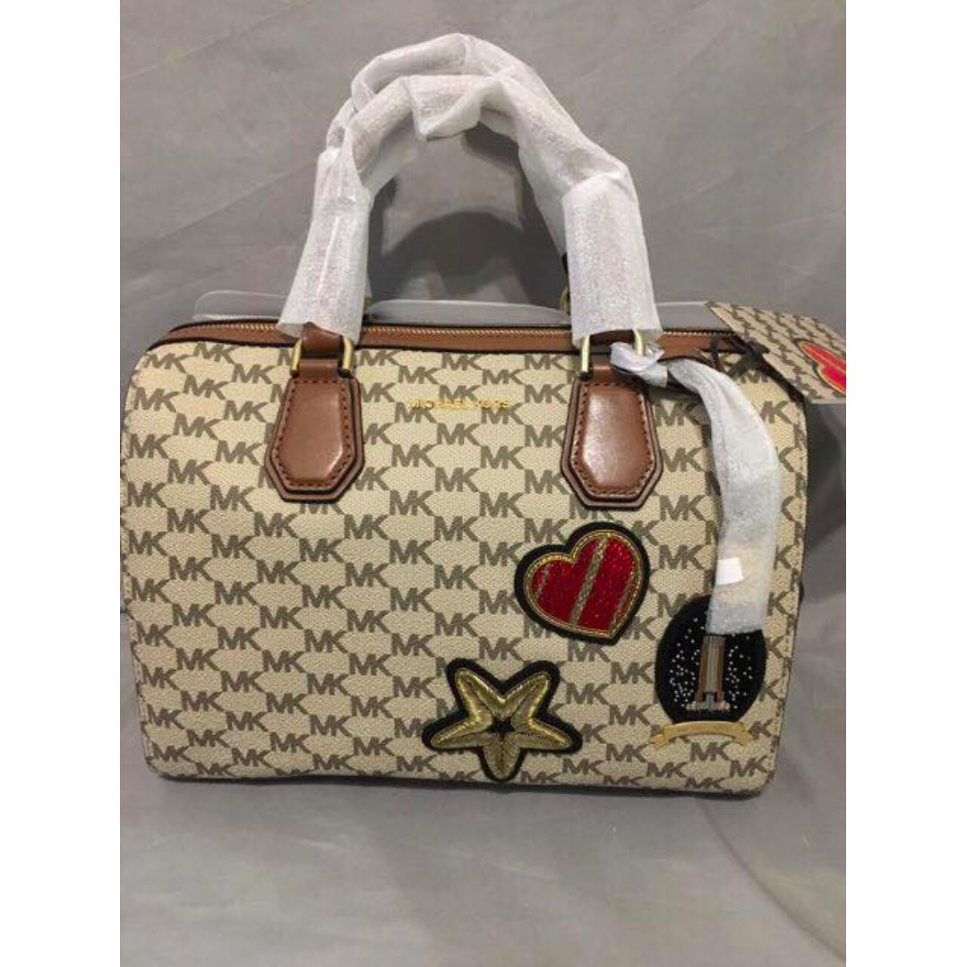 Michael Kors MK Logo Monogram Doctor Bag