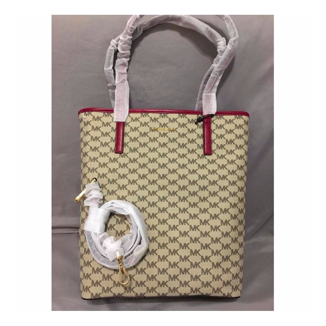 Michael Kors MK Logo Monogram Tote Bag