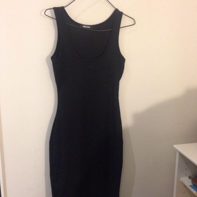 Missguided Black Midi Dress