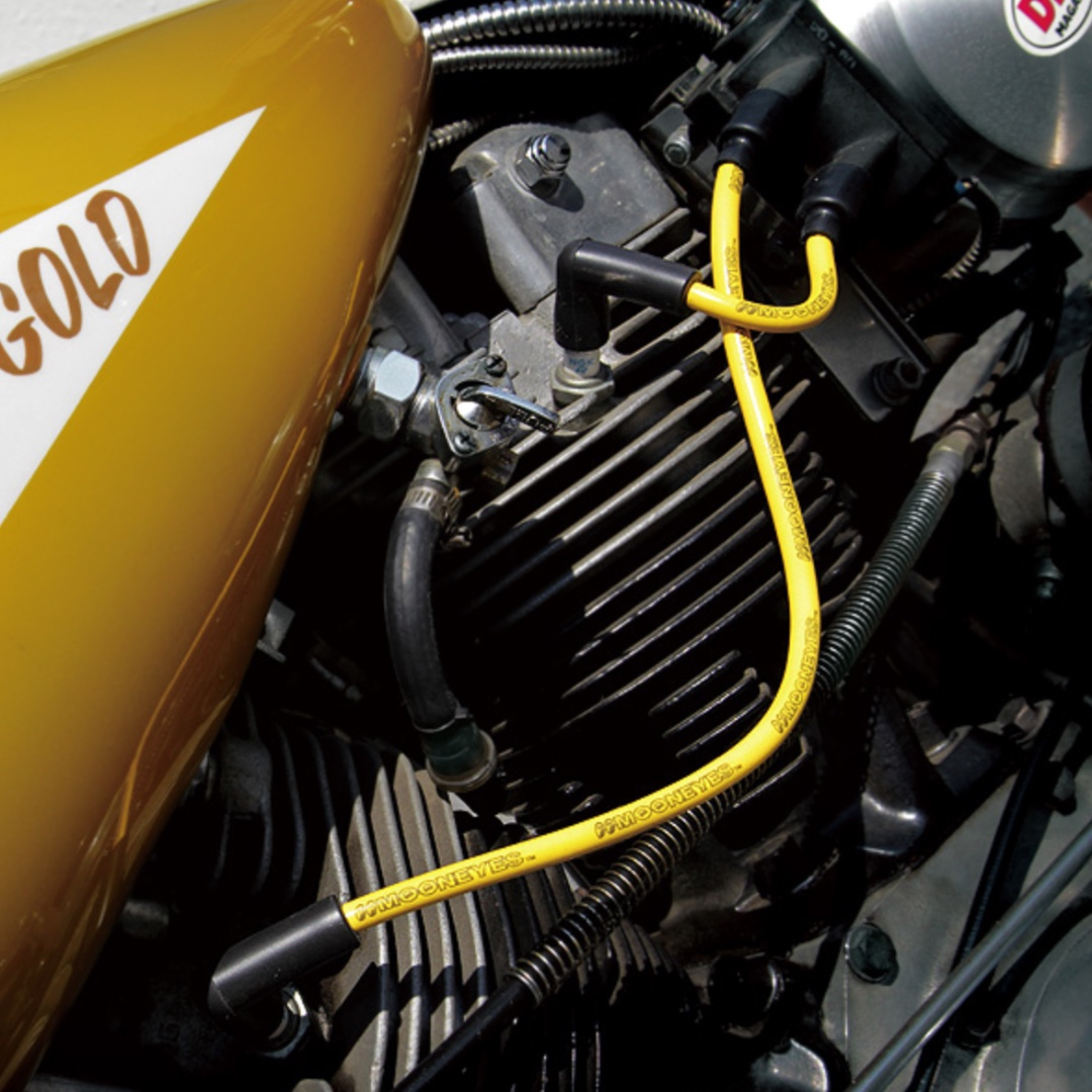 MOONEYES YELLOW Silicon Spark Plug Wire set : Harley ... on