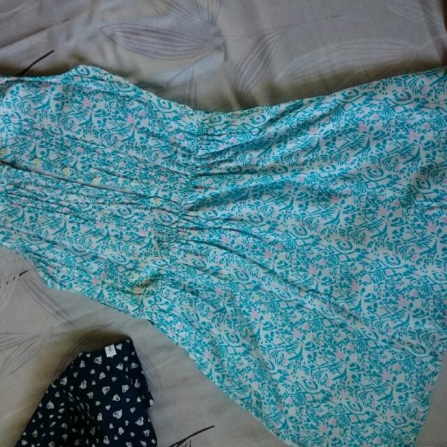 moose girl sky blue dress