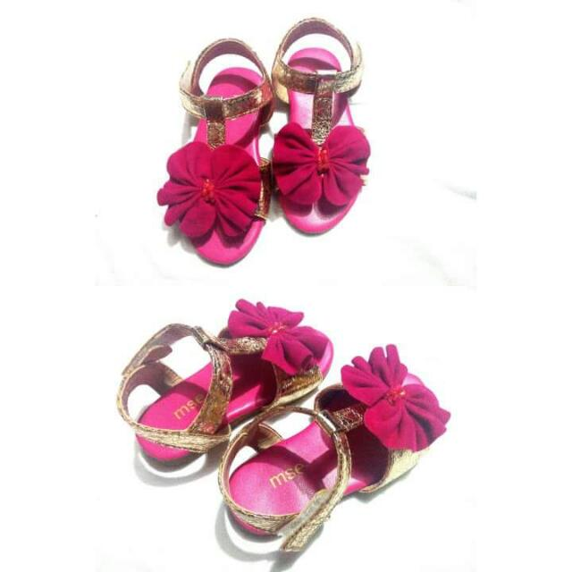 Mse Pink/gold Sandals 13cm