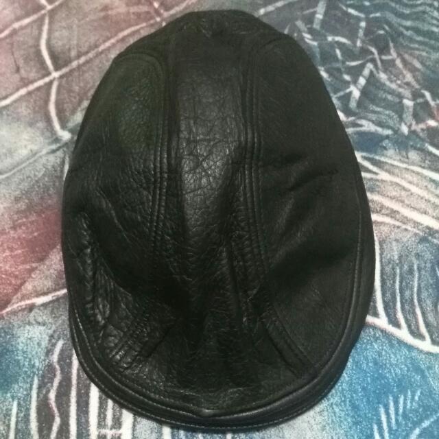 0ad8d6ba56951 New York Hat Co Leather Flat Cap Bareta