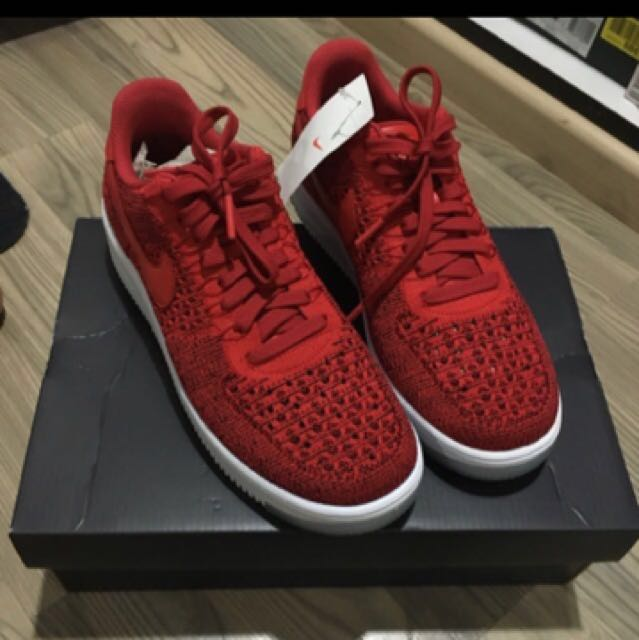 premium selection d29d4 80c9c Nike Air Force One Ultra Flyknit Low Red