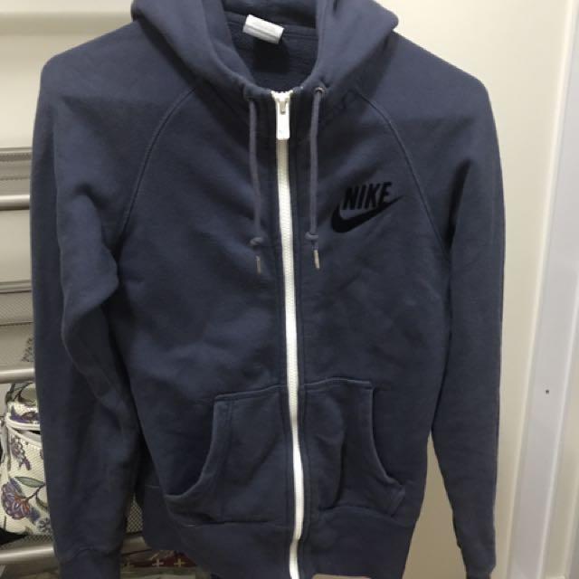 Nike Blue Zip Hoodie