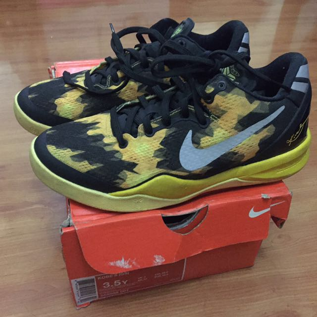 Nike Zoom Kobe 8 VII System Black And Yellow
