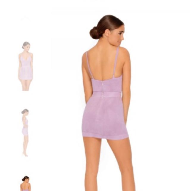 Ohpolly suede 2 piece in mauve